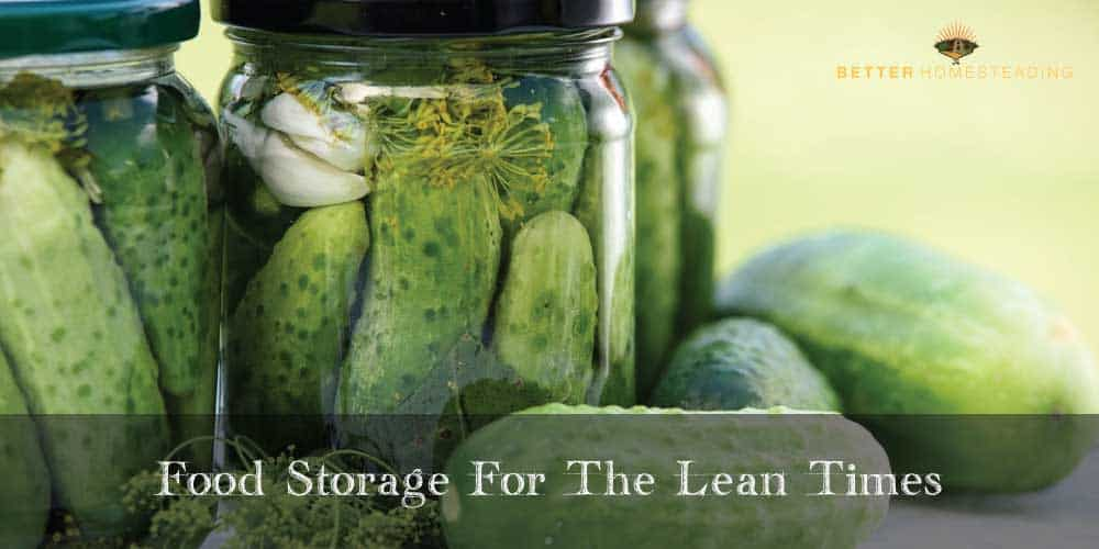 Food Preserving and Storage