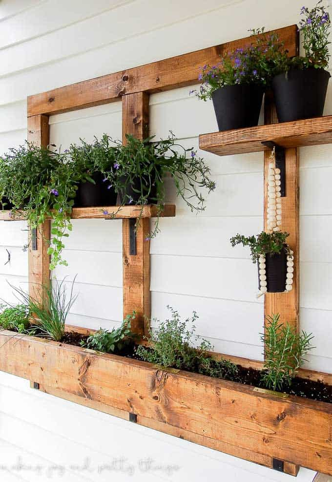 hanging herb garden planter