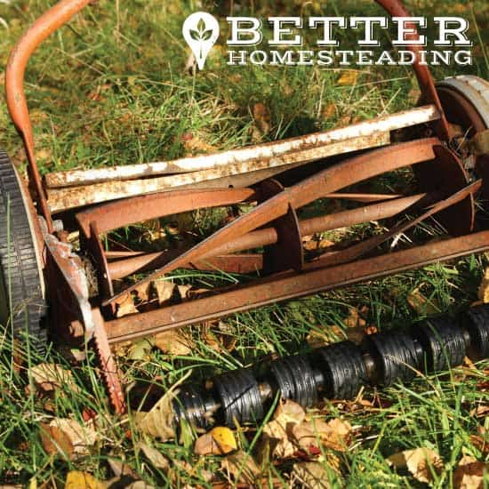 old self propelled reel lawnmower