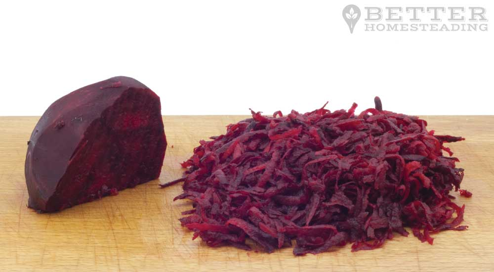 shredded beets for fermenting