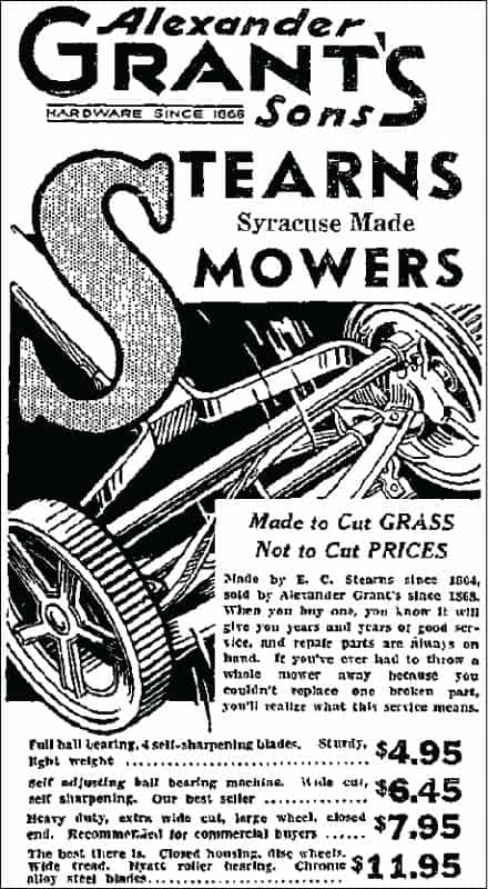 vintage self propelled reel mower ad