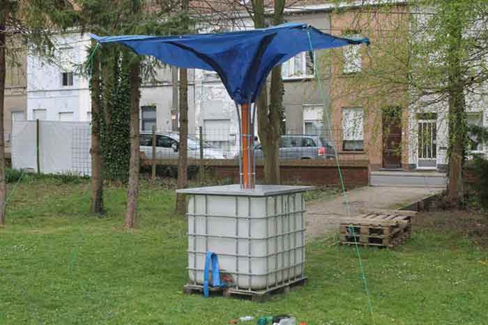 free standing water collection system