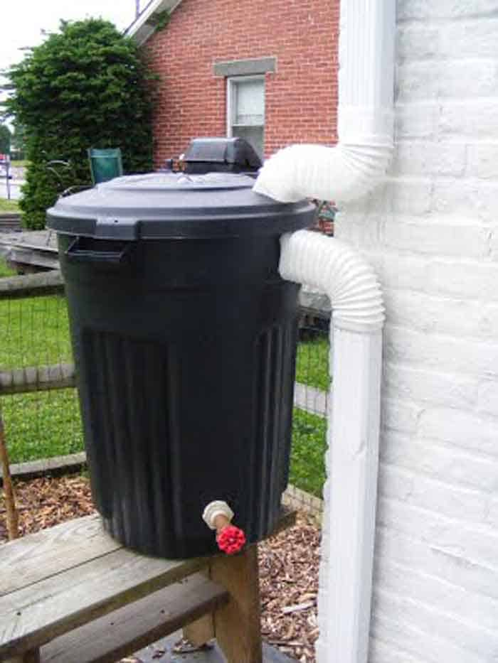 garbage can rain water storage tank