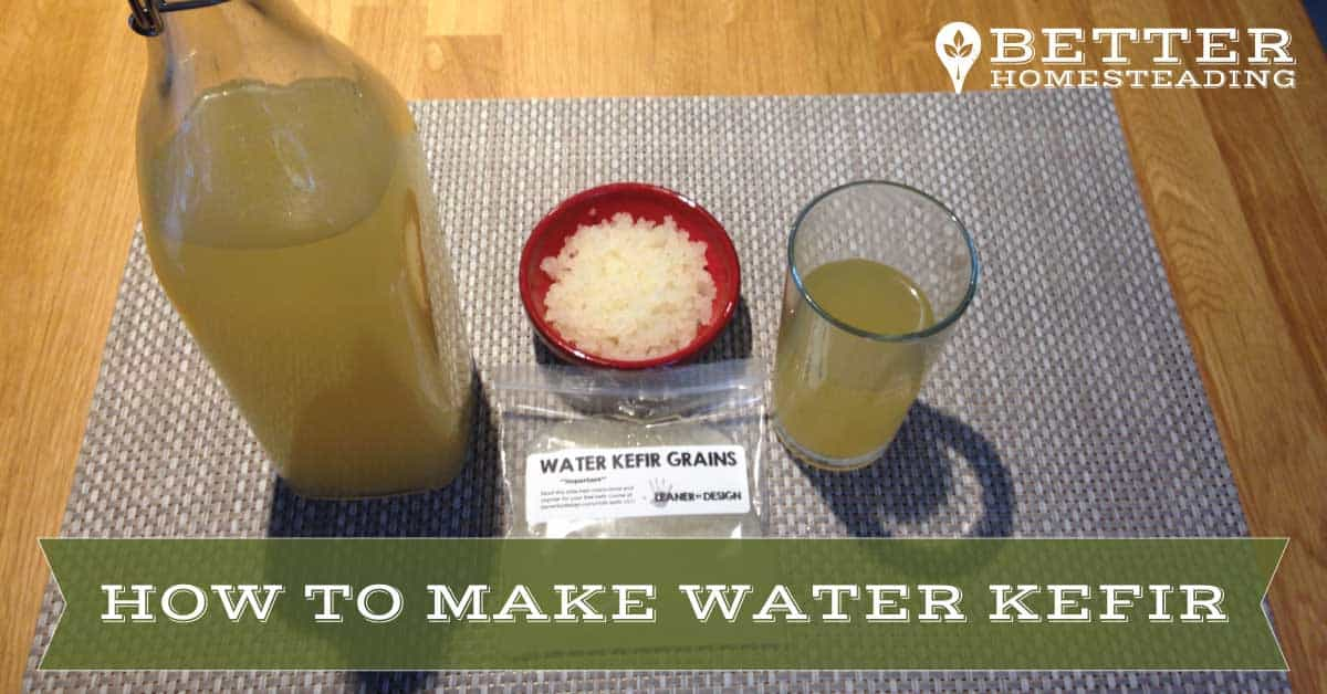 how to make water kefir - grains and finished product
