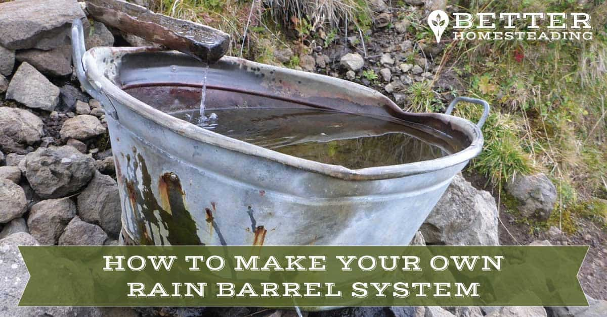 make your own rain barrel system