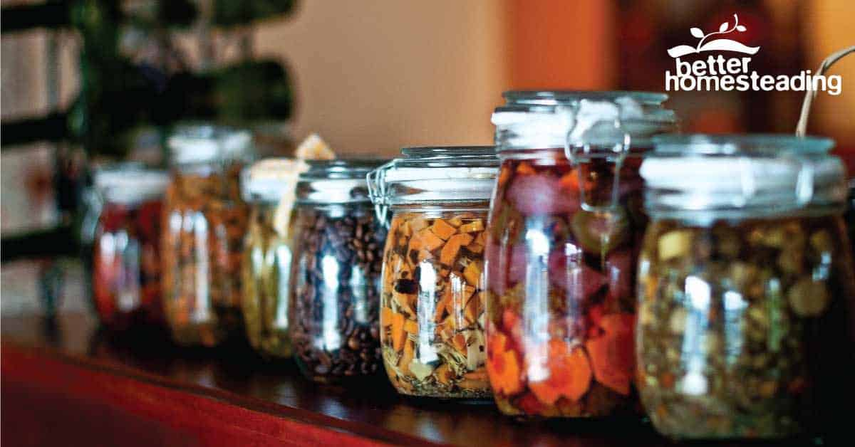 Fermenting vegetables in mason jars