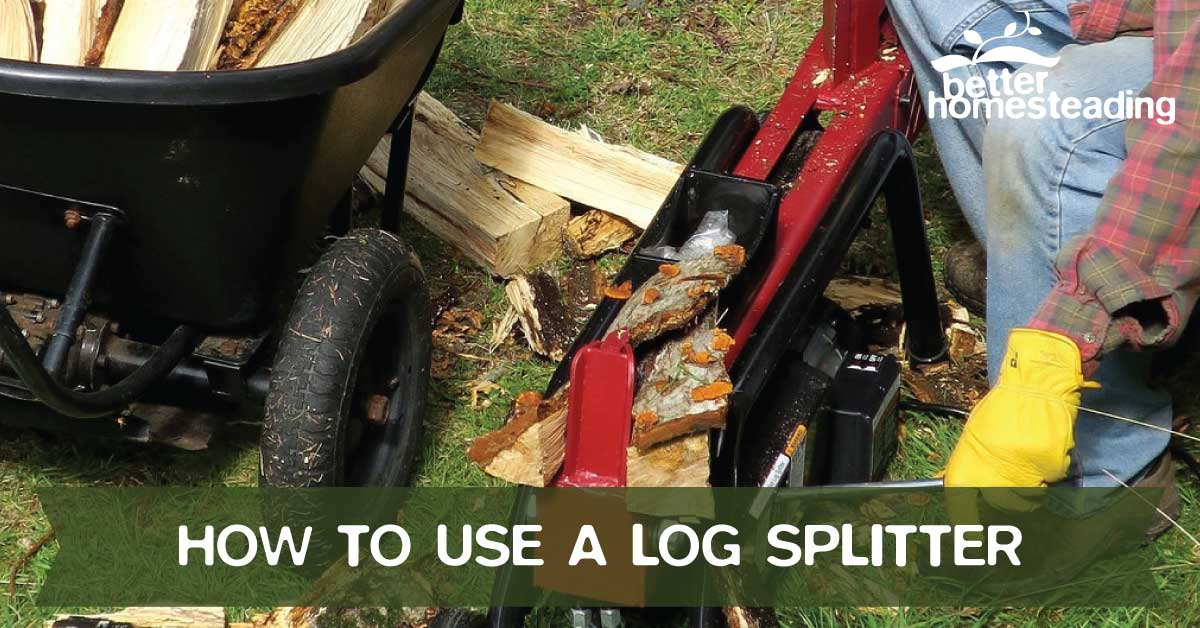 Man Learning How To Use A Log Splitter