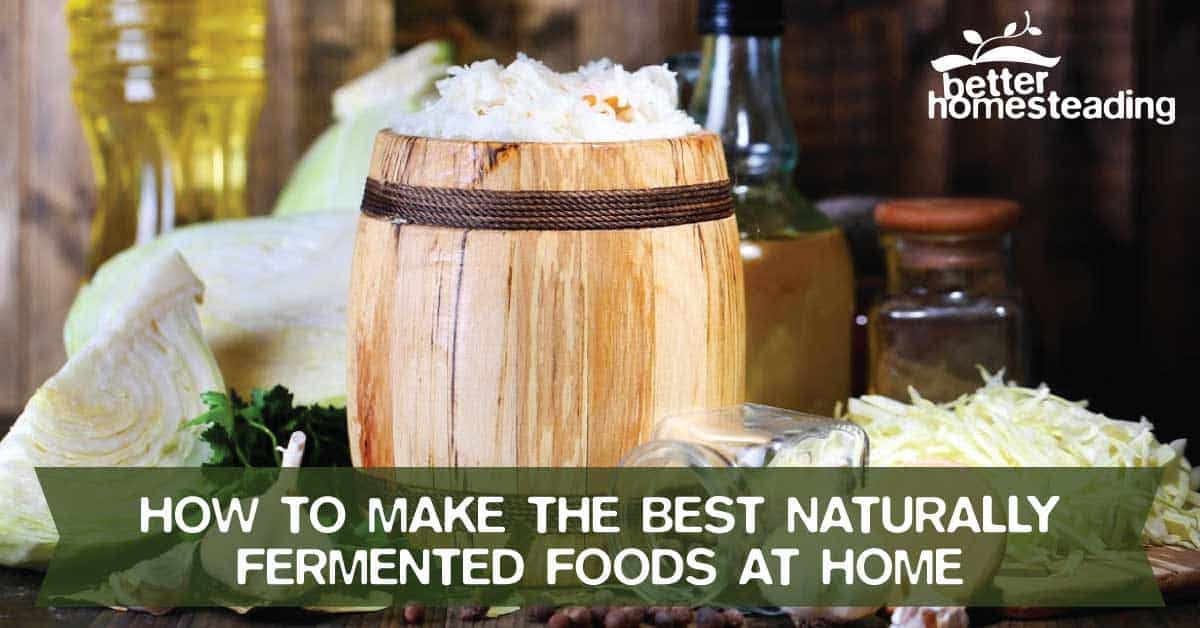 How to make naturally fermented foods at home with a fermentation vessel and some simple ingredients.