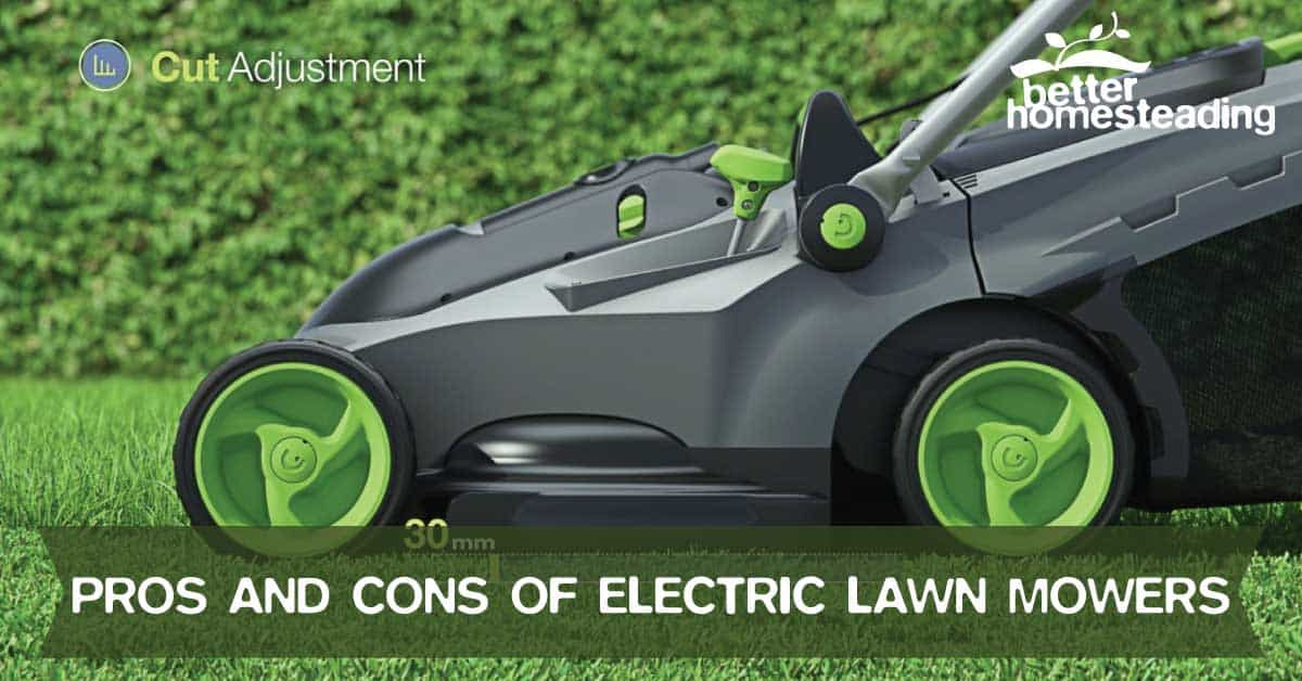 An electric lawn mower with the pros and cons of a plastic body and an adjustable cut height