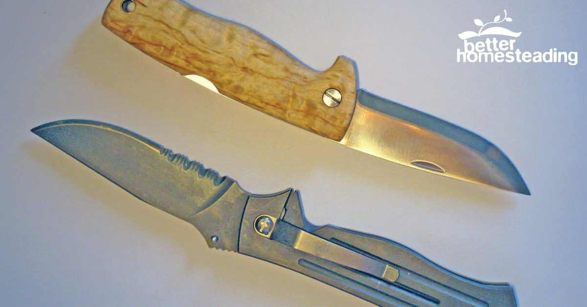 Two tactical knives side by side