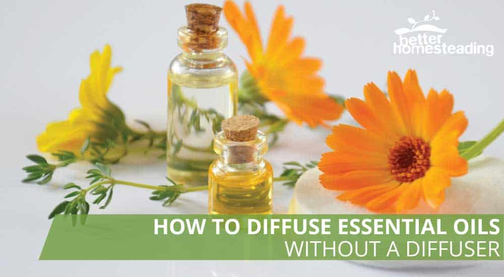How to diffuse essential oils without a diffuser using oils such as the ones in this image
