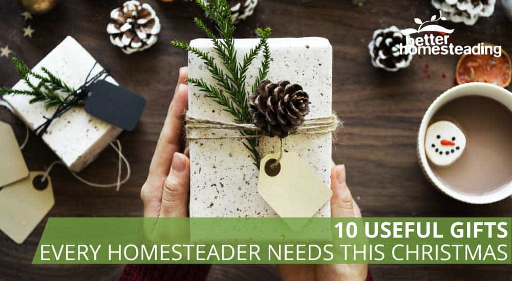 Christmas gifts for homesteaders including a bar of soap on a table, with a cup of hot chocolate