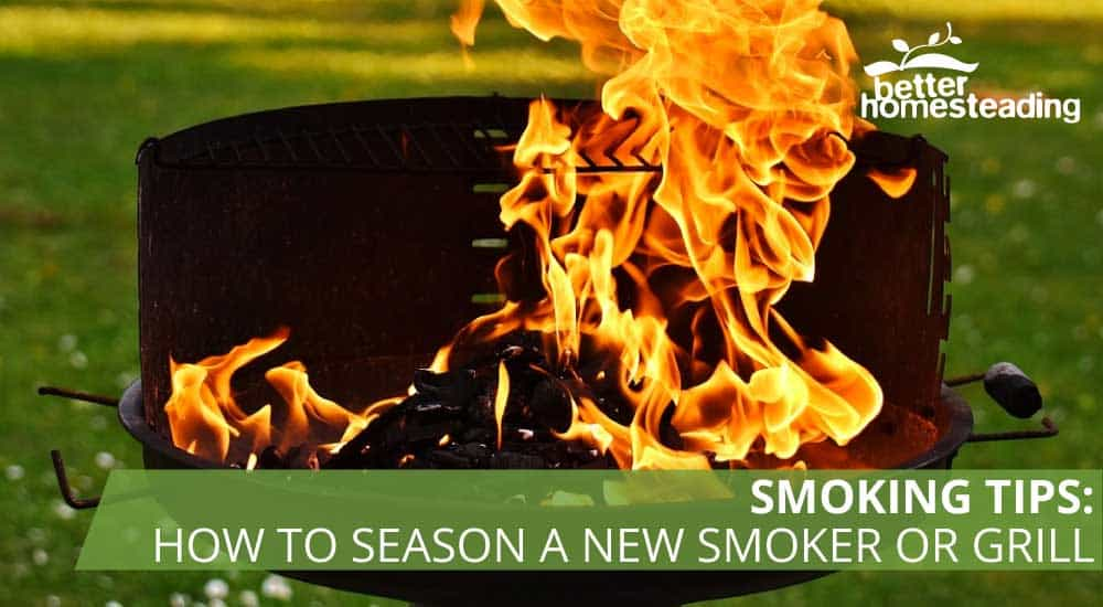 How to season a new smoker or grill. A Barbecue being seasoned for the first time.