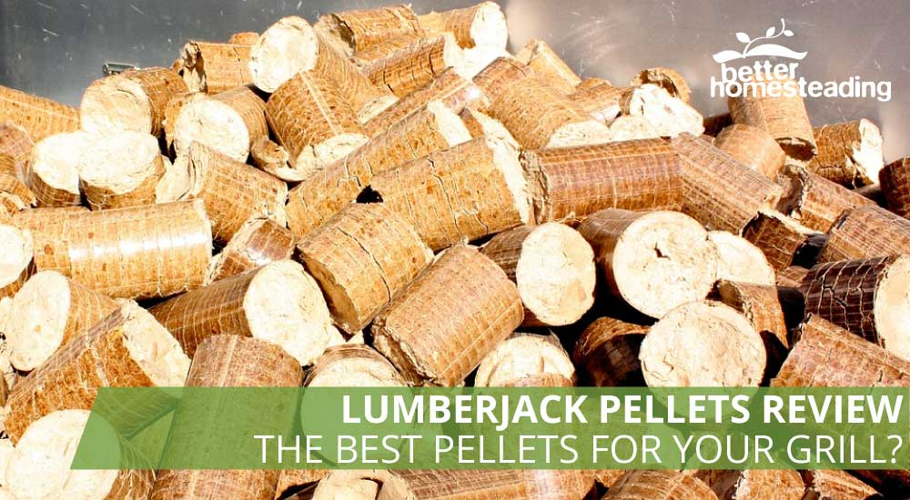 Lumberjack pellets like these for grilling and smoking are part of this review