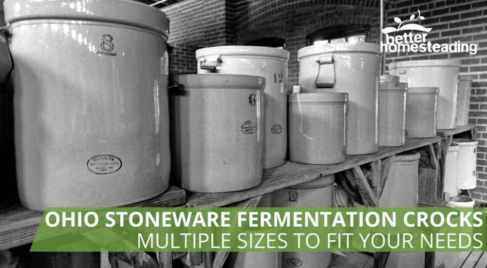 Ohio Stoneware Fermentation Crocks Are Traditionally Built Like These