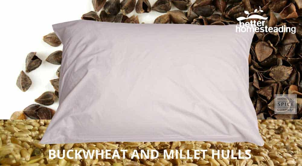 Bucky millet and buckwheat pillow